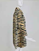 Vintage Tiger Faux Fur Coat by Safari La France Fabric 1960s
