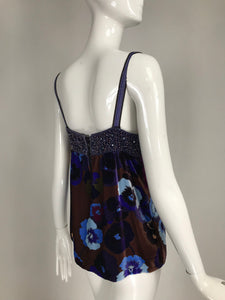 Missoni Beaded and Floral Velevet Camisole