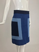 SOLD Escada Denim Colour Block Skirt
