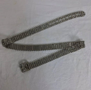 Glittery prong set rhinestone belt 1950s