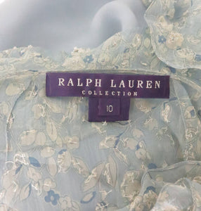 Ralph Lauren 1930s inspired bias cut beaded silk chiffon dress