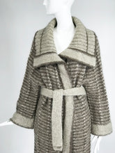 Vintage Hand Knit Belted Sweater Coat 1990s