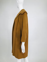 100% Vicuna 1960s Women's Coat in Tobacco Brown Vintage