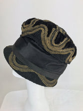 SOLD 1920s Flapper gold metallic Passementerie Cloche Hat