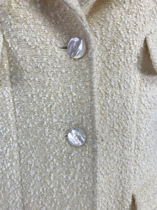 Chanel Cream Boucle 4 Pocket Jacket 1998C Mother of Pearl Buttons