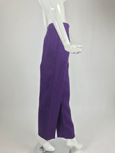 Gucci purple linen high waist trousers 1980s