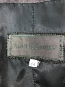 Alan Bilzerian Black Quilted Leather Zipper Front Jacket