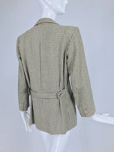 Yves Saint Laurent Hounds Tooth Norfolk Jacket 1970s