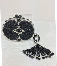 Iradj Moini Carved Black Jade Minaudière with Extraordinary Tassel