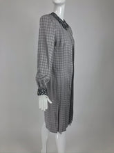 Vintage James Galanos Couture Pleated Print Dress and Jacket 1980s