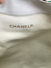 Vintage Chanel Gripoix Canvas and Leather Shoulder Bag 1980s Rare