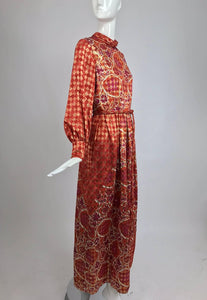 SOLD Christian Dior Boutique Paris by Marc Bohan Numbered Metallic Maxi Dress 1960s