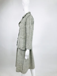 Vintage Geoffrey Beene Beene Bag Knitted Mohair Jacket and Dress 1970s