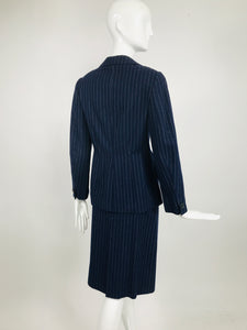 Vintage Maggy Rouff Pin Stripe Skirt Suit Early 1950s
