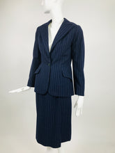 Vintage Maggy Rouff Couture Pin Stripe Skirt Suit Early 1950s