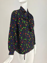 Yves Saint Laurent moon and stars silk blouse documented 1979