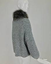 Carolina Herrera Tweed Knit Sweater With Fur Collar
