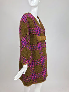 SOLD Bonnie Cashin for Sills tweed coat and stole set 1960s