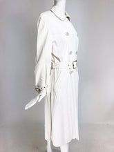 SOLD Samuel Robert White Soft Leather Trench Coat 1960s