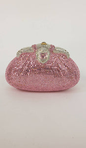 SOLD Pink crystal evening bag Finesse la Model