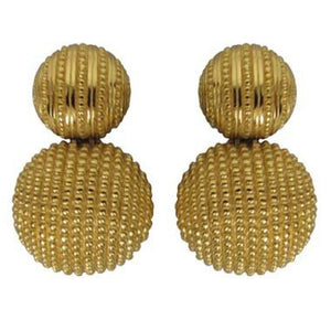 Christian Dior Textured Gold Earrings