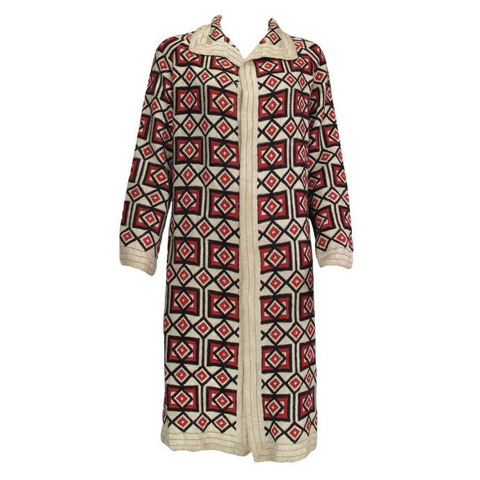 Art Deco woven wool coat Hungary 1920s