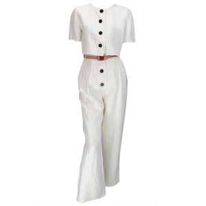 SOLD Bill Blass 30s inspired linen beach PJs