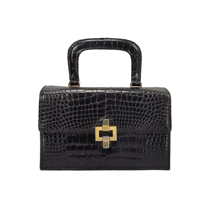 Lucille de Paris alligator box bag 1950s