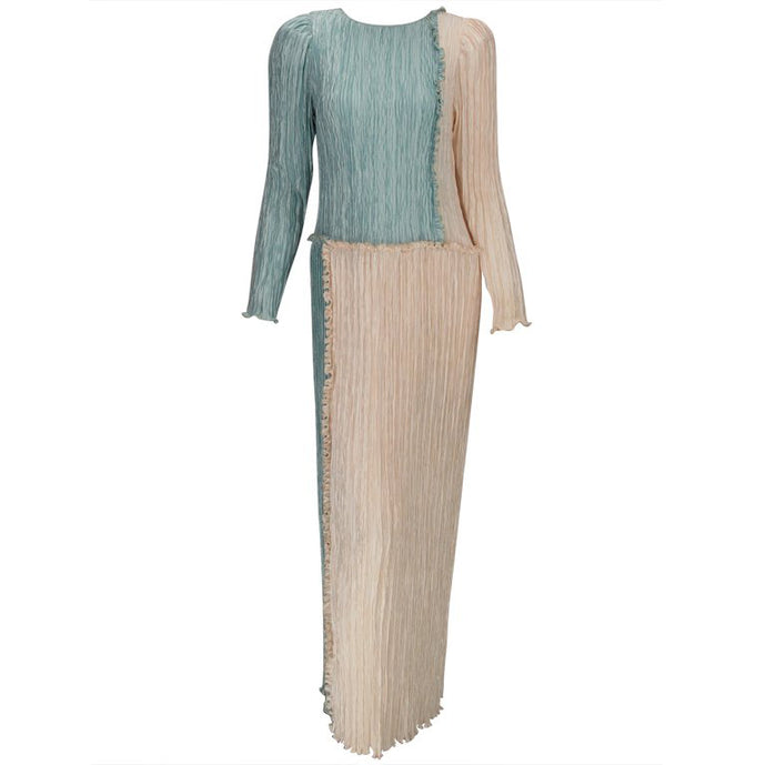 Mary McFadden pleated gown 1980s