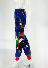 Leonard Paris sea print textured cotton sport pant 1980s