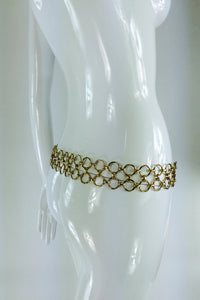 SOLD Christian Dior Jungle Safari Chain Belt 1970s