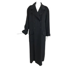 Chanel Black Cashmere Double Breasted Maxi Coat 1990s Unisex