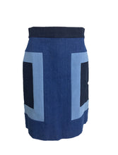 Escada Denim Colour Block Skirt