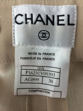 Chanel White Cotton Twill Buckle Back Fly Front Trousers 1990s