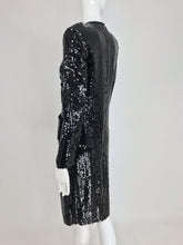 Chanel Karl Lagerfelds 1st RTW collection Black Sequin Suit 82-83