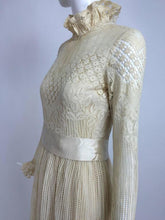 Miss Dior cream lace maxi dress 1970s