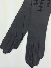 Black Leather Cut Work Gloves France 7  1960s