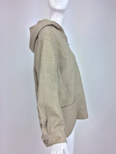 Galanos Taupe Wool Zipper Front Hooded Jacket 1950s