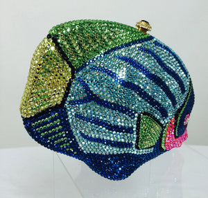 Kathrine Baumann Beverly Hills Crystal Jeweled angel fish minaudière