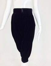 Yves Saint Laurent navy & black velvet knee breeches 1970s