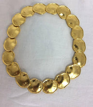 Kenneth J Lane gold artisan inspired necklace