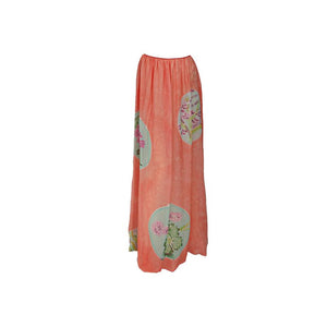 Mary McFadden painted & batik skirt