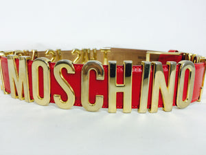 Moschino Redwall-This Is Not A Moschino Jacket- belt 42 1980s