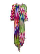 Emilio Pucci Zig Zag Colour Bright Gown and Robe Set EPFR 1970s