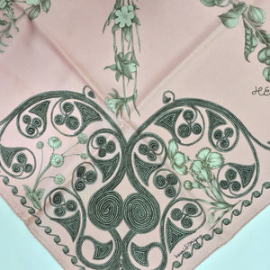 SOLD Hermes Paris silk twill scarf Arabesques Henri d'Origny unworn