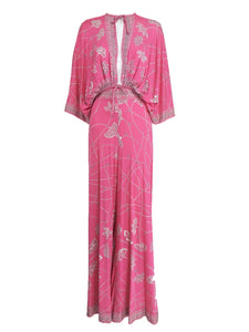 Vintage Emilio Pucci silk jersey plunge top and palazzo trouser 1970s