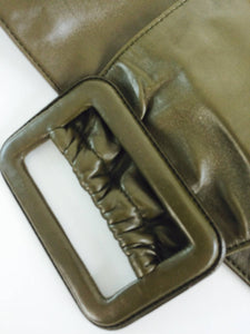 SOLD Prada buttery soft wide leather contour belt 36