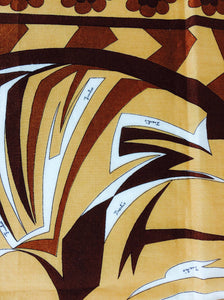 Pucci cotton scarf African design print 1970s
