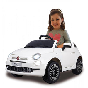 Ride-on Fiat 500 white 12V