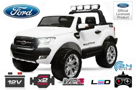 Ford Ranger Licensed Children Electric Ride On 4x 35W 12V / 10Ah Bluetooth 2.4G RC LED - LK Auto Factors